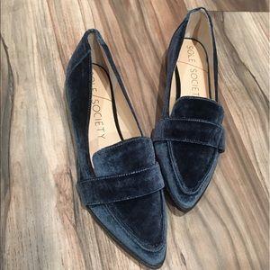 Teal Velvet Sole Society Slip-on Loafer